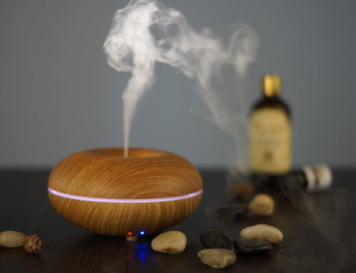 100ML Fake Wood Light Circle Diffuser 10K