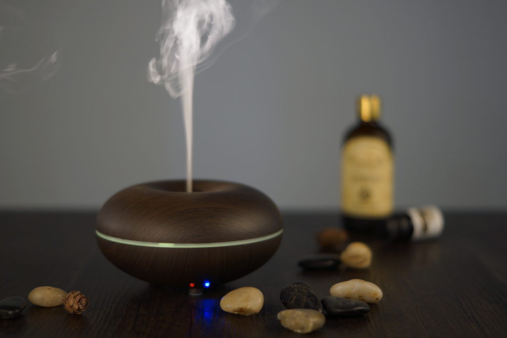 Fake Wood Essential Oil Diffuser 10K
