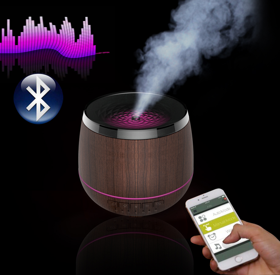 2018 200ML Fake Wood Bluetooth Aromatherapy Diffuser