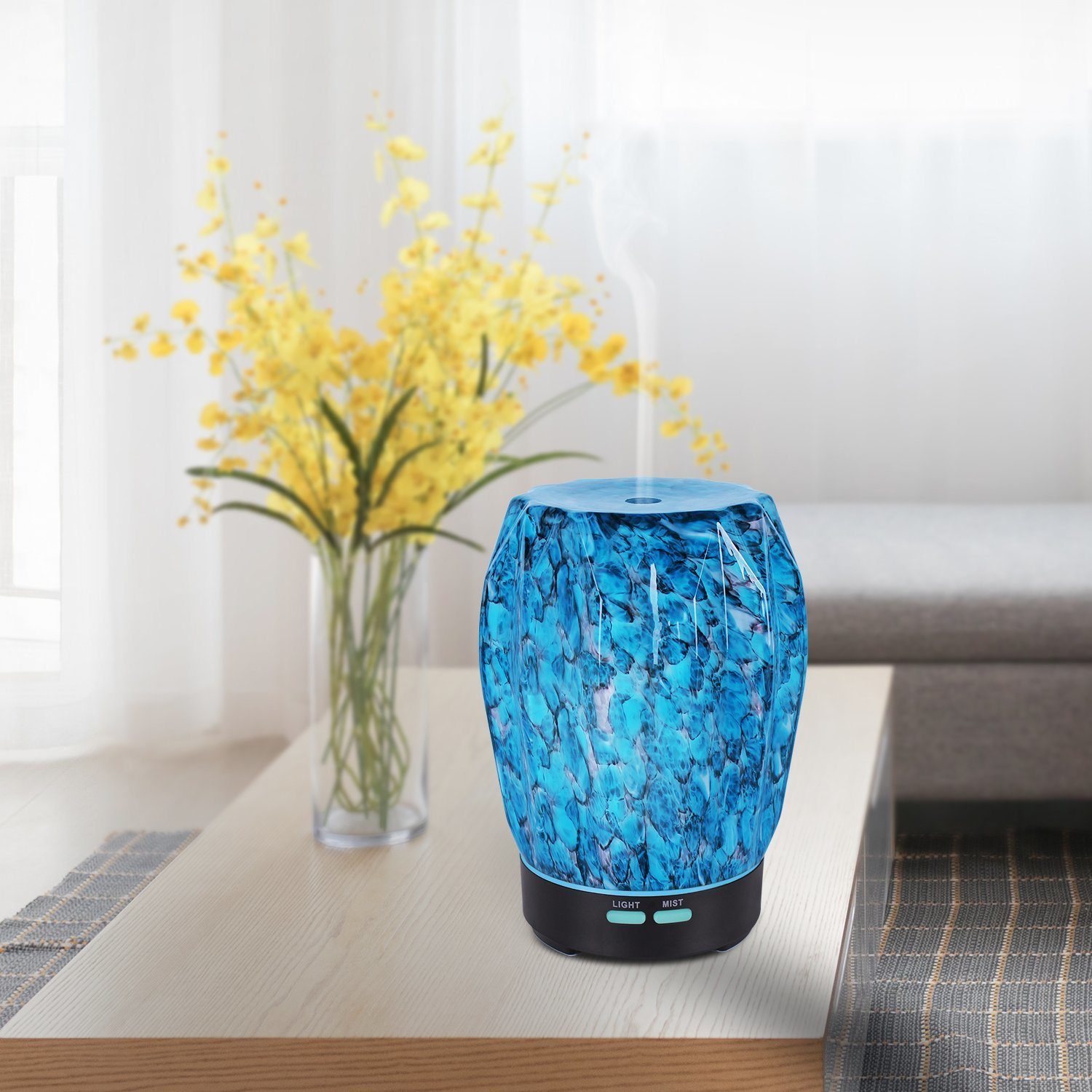 3D Creative Glass Aroma Diffuser 3D Humidifier Essential Oil Electric Glass Diffuser